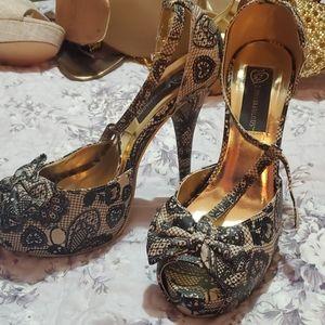 IRON FIST Love Lace Platform Heels